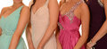 Prom dresses women with various Stock Photography