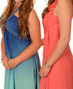 Prom dresses women with various Royalty Free Stock Photo