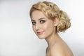 Prom hairdo Royalty Free Stock Photo