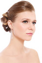 Prom make-up and hairdo Royalty Free Stock Photography