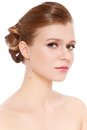 Prom make-up and hairdo Royalty Free Stock Photos