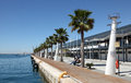 Promenade in Alicante, Spain Royalty Free Stock Photos