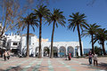 Promenade in andalusian town nerja province of malaga spain Royalty Free Stock Photo