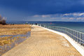 Promenade at Baltic Sea in Gdansk Stock Photography
