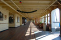 Promenade Deck in Queen Mary Royalty Free Stock Images