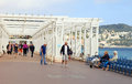 Promenade des Anglais in Nice, France. Royalty Free Stock Photo