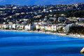 Promenade des anglais in nice from the sea c te d azur view of main street of on a bright sunny day Stock Photo