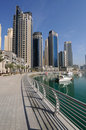 Promenade at Dubai Marina Stock Image