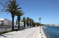 Promenade in Lagos, Algarve Portugal Stock Photography