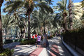Promenade of Los Cristianos Stock Photography