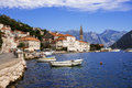 Promenade of Perast, Montenegro Royalty Free Stock Photo