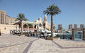 Promenade in porto arabia doha qatar middle east Royalty Free Stock Photo