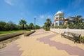 Promenade at punta de moral ayamonte spain in summer Stock Images