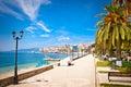 Promenade in Saranda, Albania. Royalty Free Stock Photo