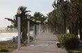 Promenade on stormy day Stock Photos