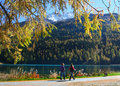 Promenade on the swiss lake Royalty Free Stock Photo