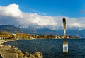 Promenade at Vevey Stock Photography
