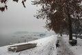 Promenade in zemun near the river danube belgrade serbia Stock Photography