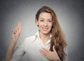 Promise hand gesture Royalty Free Stock Photo