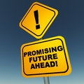 Promising future ahead Royalty Free Stock Photo