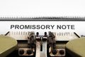 Promissory note Stock Photography