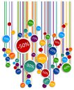 Promo soldes board abstract colorful graphic d illustration Stock Photo