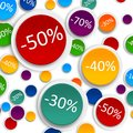 Promo soldes board abstract colorful graphic d illustration Stock Images