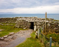 Promontory fort ireland ancient dunbeg on the dingle peninsula Stock Photography