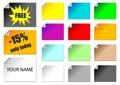 Promotie stickers Stock Afbeeldingen