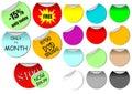 Promotie stickers Royalty-vrije Stock Foto