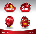 Promotion sale red Royalty Free Stock Photo