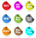 Promotion stickers. Stock Image