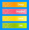 Promotional citrus banners Royalty Free Stock Photography