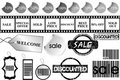 Promotional elements set Stock Image