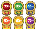 Promotional Sale Labels Stock Image