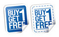 Promotional sale stickers. Royalty Free Stock Image