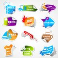 Promotional Tag Sticker Stock Photo