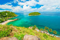 Promthep cape phuket thailand landmark of Stock Photography