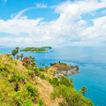 Promthep cape phuket thailand landmark of Stock Photo