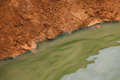Proof evident of water pollution concept polluted environment Stock Photo