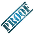 Proof word rubber stamp grunge look concept evidence proof Stock Photos