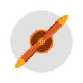 Propeller fan vector wind ventilator equipment air plane blower cooler rotation technology circle.