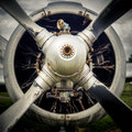 The propeller of an old airplane Royalty Free Stock Photo