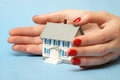 Property coverage a professional woman ensures that your is covered by good hands Royalty Free Stock Image