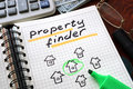 Property finder Royalty Free Stock Photo