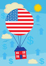 Property increase usa a metaphor for an in u s house price value Stock Photos