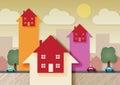 Property Market Rising Royalty Free Stock Photo