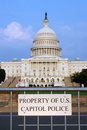 Property of US Capitol Police Royalty Free Stock Photography