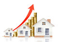 Property value houseing price go up Stock Image