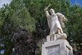 Prophet elijah statue a of at the mukhraka israel Stock Image